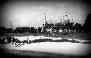 Вид Соборной площади 1925 год. Фото с сайта luhovici-hram.ru.
