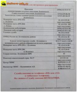Объявление в здании дединовской администрации и ЦКиД, 2017 г.