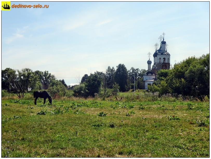 Конь напротив Троицкой церкви. Село Дединово